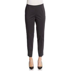 LAFAYETTE 148 | Black Cropped Plus Size Zip Pants
